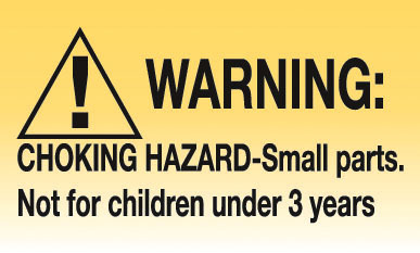 WARNING: CHOKING HAZARD - Small parts Not for children under 3 yrs.